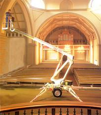 Anhänger-Arbeitsbühne 10,5 m  Dinolift / 10m mieten leihen