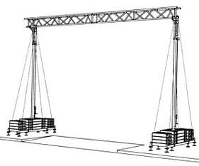 Kabelbrücke 7,40m  Spannweite / Durchfahrtsbreite mieten leihen