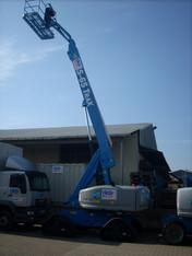 Selbstfahren Diesel Teleskoparbeitsbühne auf Kettenfahrwerk mieten leihen