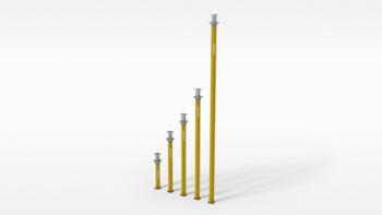Alu - Deckenstützen  MP 480 , ca. 2,60 bis 4,80 m Peri Multiprop mieten leihen